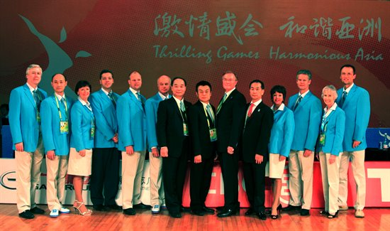 2010 Asian Games Adjudicators and IDSF Presidium Members © Fam