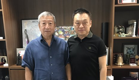 Mr Ser Miang NG, Executive Board Member of the IOC and Mr Shawn Tay, President of WDSF