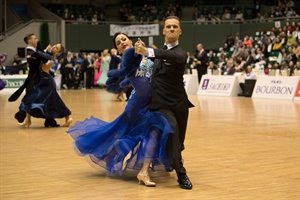 Nikolay Darin - Natalia Seredina (MDA) at 2019 WDSF PD Super GP in Tokyo | © Helmut Roland