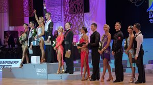 Prize presentation 2018 PD WCh Ten Dance © Helmut Roland