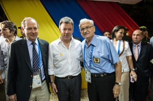 Colombian President Santos - IWGA President Froehlich