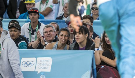 IOC President visits Breaking venue
