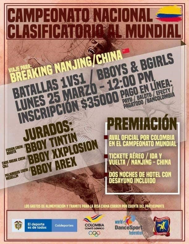 Colombia qualifier flyer